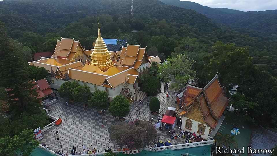 doi suthep from a drone